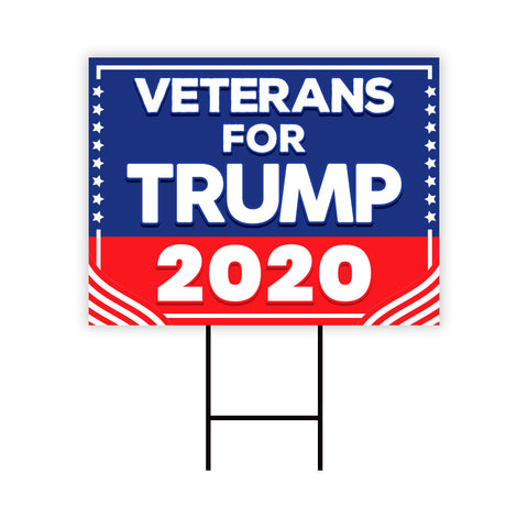 Veterans for Trump 2020 Yard Sign