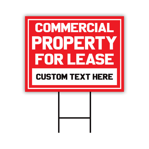 Commercial Property for Lease Yard Sign