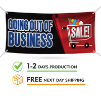 Going Out Of Business Sale Banner Sign