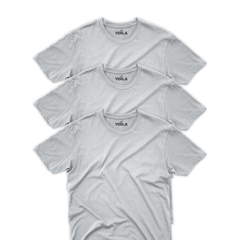 3 Pack Slim Fit Crew Neck T-Shirt for Men