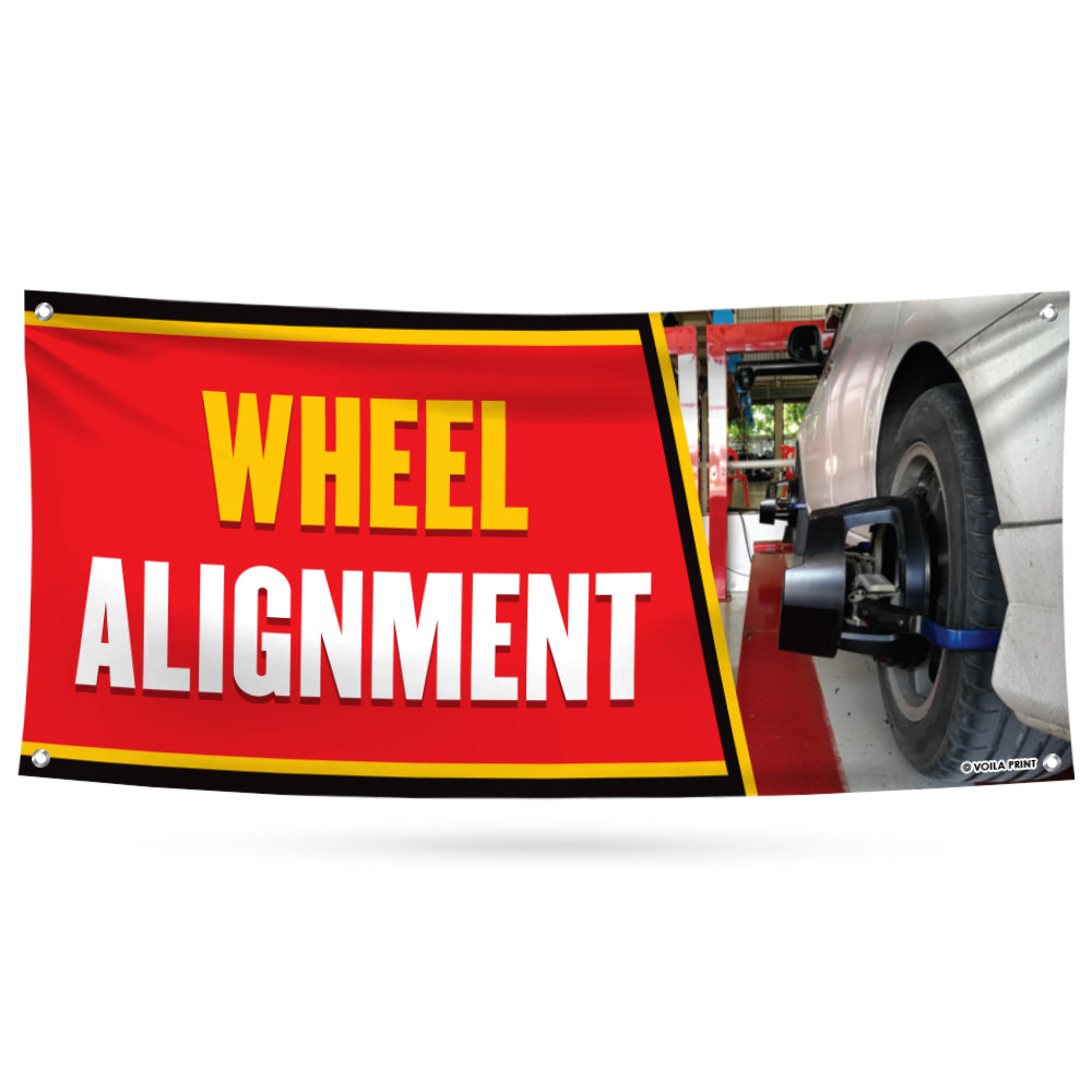 Wheel Alignment Banner Sign
