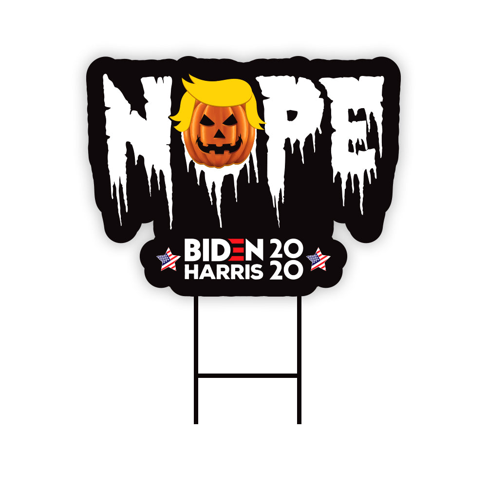 Trump Nope Halloween Yard Sign