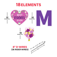 Happy Mother's Day Yard Sign Letters