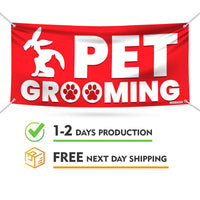 Pet Grooming Banner Sign