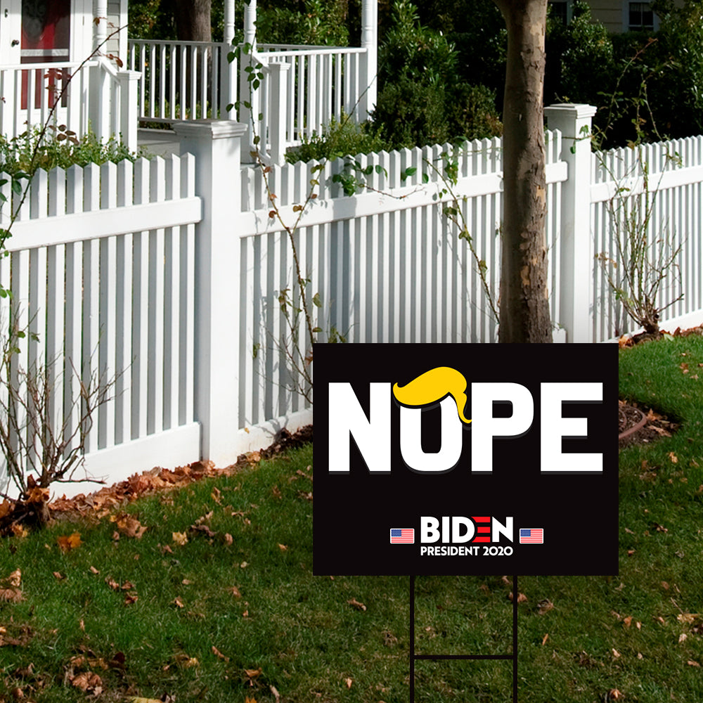 Trump Nope Yard Sign