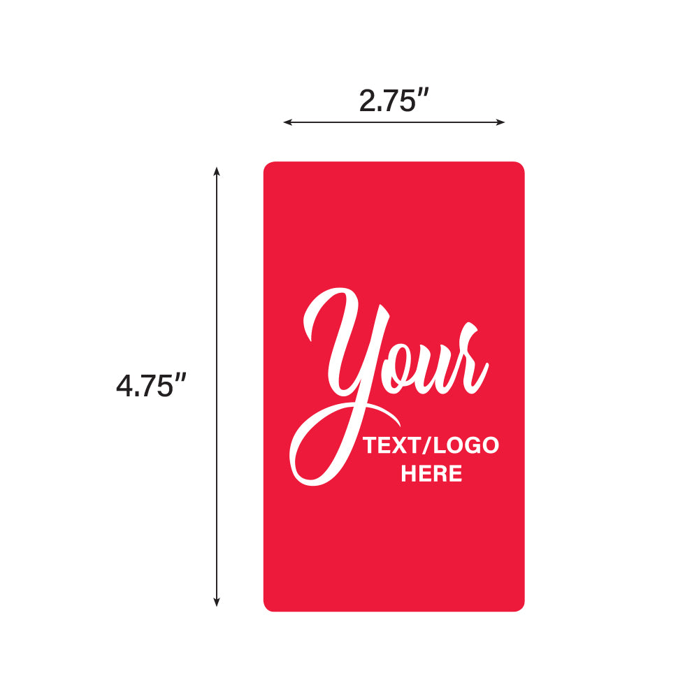 "Custom Rectangle Stickers - 2.75"" X 4.75"""