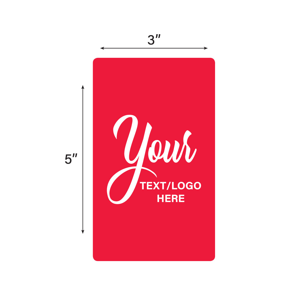 "Custom Rectangle Stickers - 3"" X 5"""