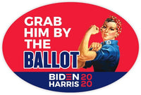 Grab Him by The Ballot Sticker Vinyl Decal