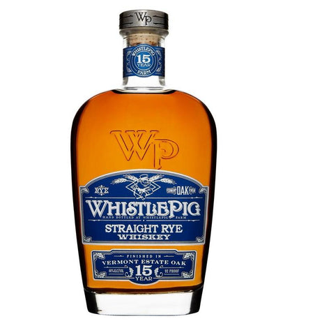 Whistlepig Rye Whiskey 15 Year Vermont Oak Finish 750ML