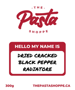 Dried Cracked Black Pepper Radiatore