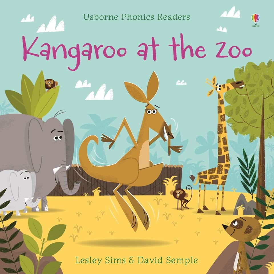 Usborne Phonics Readers Kangaroo at the Zoo by Lesley Sims