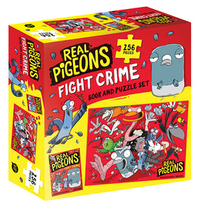 Real Pigeons Fight Crime Book and Puzzle Set by Andrew McDonald and Ben Wood