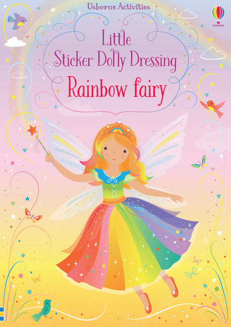 Usborne Little Sticker Dolly Dressing Rainbow Fairy