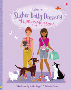 Usborne Sticker Dolly Dressing Puppies and Kittens