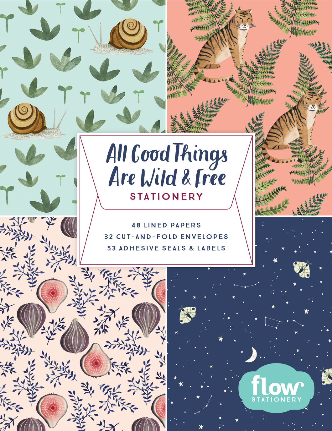 All Good Things are Wild and Free Stationery Set by Valesca van Waveren, Irene Smit, Astrid van der Hulst