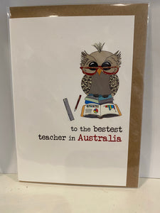 To The Bestest Teacher in Australia