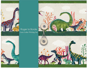 Roger la Borde Luxe Letter Writing Set, Dinosaurs