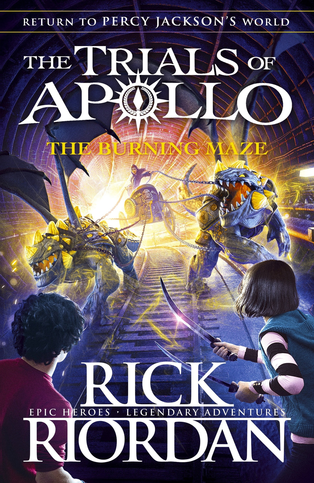 The Trials of Apollo3: The Burning Maze by Rick Riordan