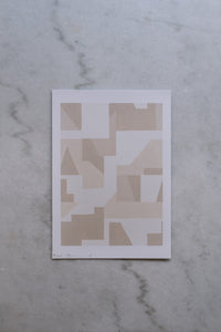 Product image of an artists print. A4 size and a beige pallet to the abstract art.