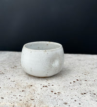 Load image into Gallery viewer, White Speckled Tea Cup Set of Two