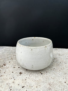 White Speckled Tea Cup Set of Two