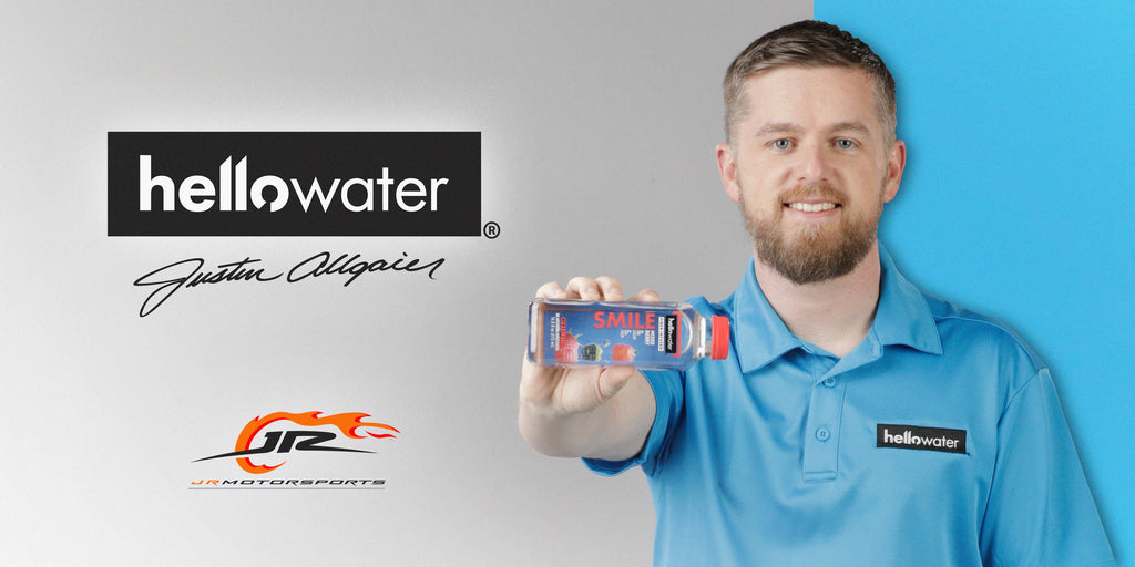 hellowater® Partners with Justin Allgaier and JRM in 2021