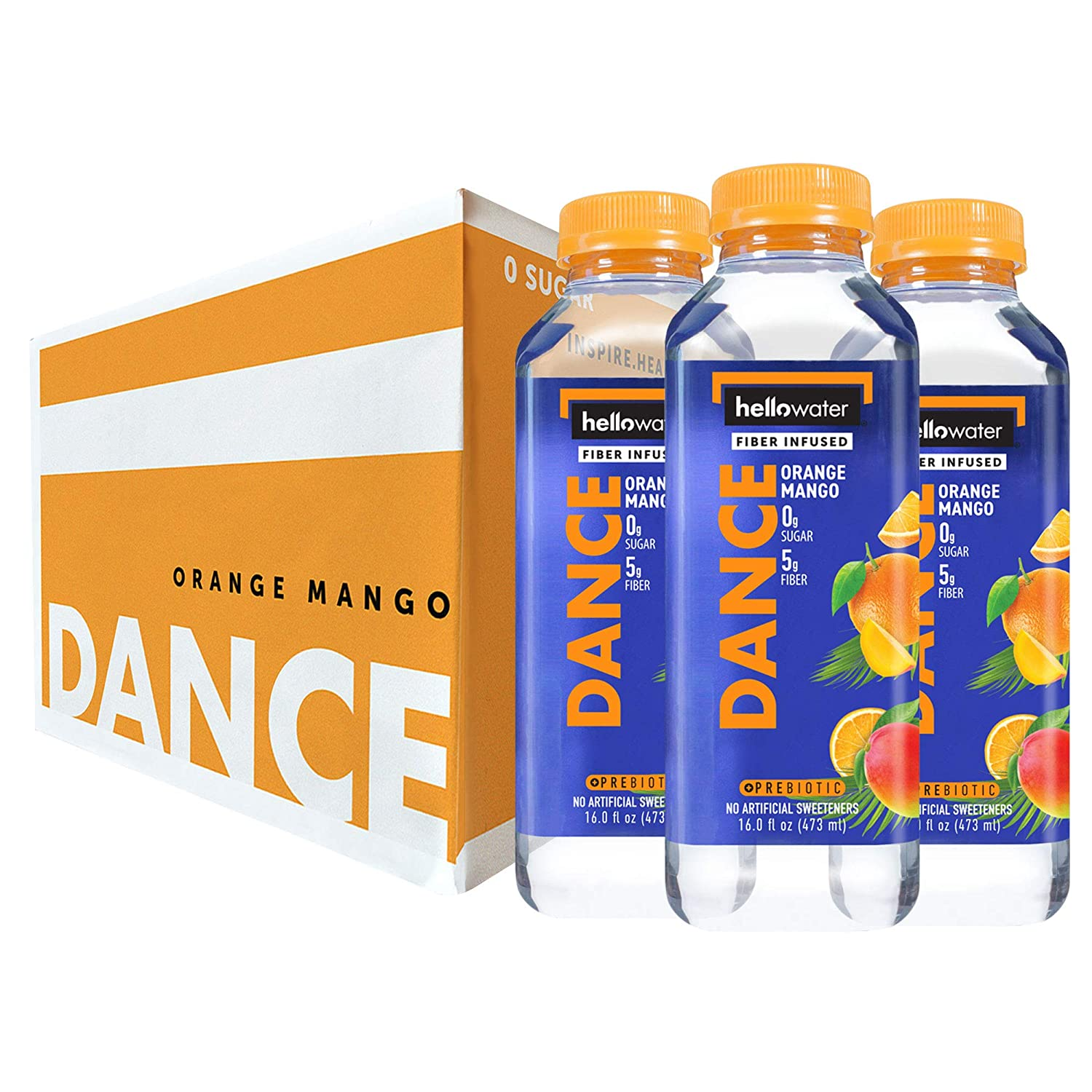 Dance, Orange-Mango hellowater. <br> Pack of 12