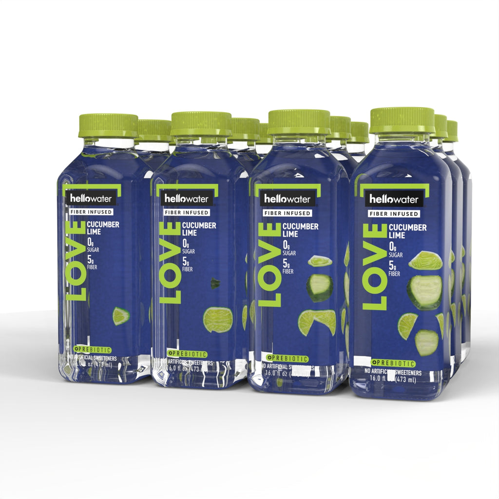 LOVE, Cucumber-lime hellowater® <br> Pack of 12