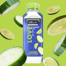 Load image into Gallery viewer, Love, Cucumber-lime hellowater. <br> Pack of 12