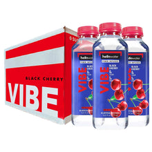 Load image into Gallery viewer, Vibe, Black Cherry hellowater. <br> Pack of 12