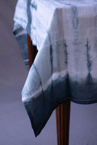 Selma Dark Green Tie-Dye Cotton Table ClothSelma Dark Green Tie-Dye Cotton Table Cloth