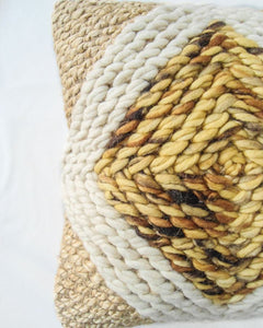 Elio Handwoven Recycled Jute and Recycled Acrylic Cushion Cover