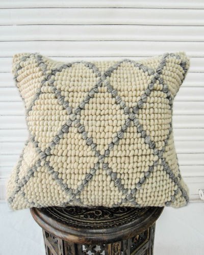 Oda Handwoven Recycled Cotton and Recycled Acrylic Cushion Cover-TGC