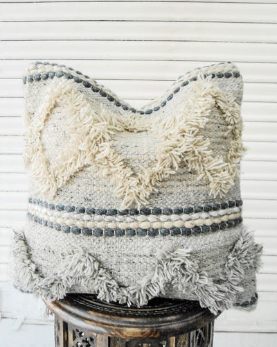 Niran Handwoven Recycled Cotton and Recycled Acrylic Cushion Cover-TGC