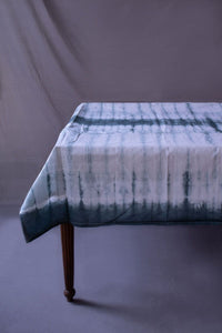 Selma Dark Green Tie-Dye Cotton Table Cloth