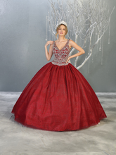MQ LK143 - A Line Quinceanera Dress with Embellished Bodice & Corset Back - Diggz Prom