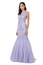 Aspeed Size Chart A AS 2368 - Lace & Jewel Embellished Tulle Mermaid Prom Gown with high Neck & Closed Back - Diggz Prom
