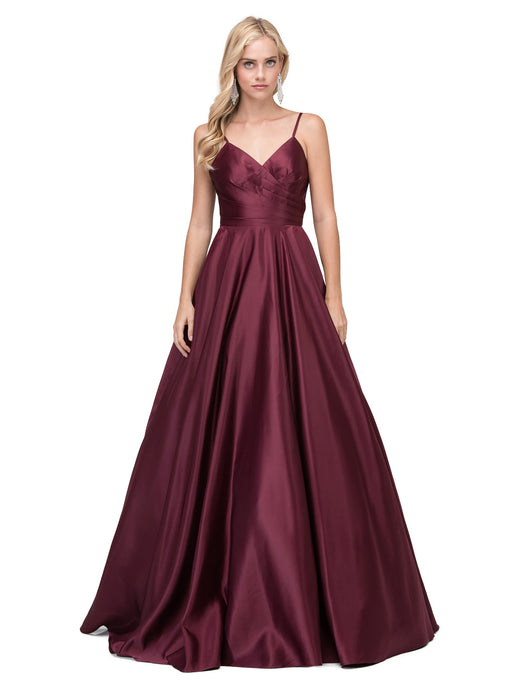 62c5068c9c06 Dancing Queen DQ 2339 - Pleated A-Line Sweetheart Ballgown with Satin Skirt  - Diggz