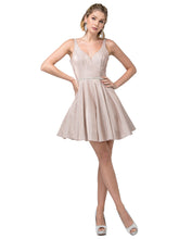 Dancing Queen DQ 3142 - Shimmering Metallic Glitter Homecoming Dress Sweetheart Neckline with Rhinestone Belt - Diggz Prom