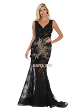 Mayqueen Size Chart E MQ 7687 - Beaded Lace Tank Fit and Flare with See-Through Illusion Skirt - Diggz Prom