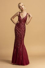 Aspeed Size Chart A AS 2173 - Glitter Fit & Flare Prom Gown with Plunging V-Neck Sheer Sides & Low Open Back - Diggz Prom
