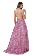 Aspeed Size Chart A AS 2337 - Sequin A-Line Prom Gown with High Neck & Strappy Open Back - Diggz Prom