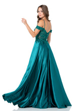 Diggz Prom BC DA505 - Sweetheart Neckline Off the Shoulder Sheath Gown with High Leg Slit - Diggz Prom