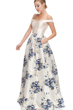 Diggz Prom BC EM12025 - Off the Shoulder Sweetheart Neckline Floral Ball Gown with Pockets - Diggz Prom