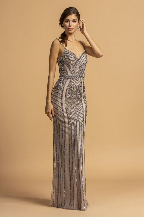 Aspeed Size Chart A AS 2218 - Beaded Fit & Flare Prom Gown with V-Neck Spaghetti Straps & Rhinestone Waistband - Diggz Prom