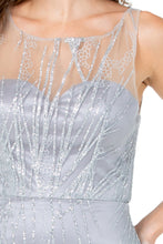 Diggz Prom BC GA1344 - Illusion Neckline Fitted Glitter Gown with Mesh Zip Up Back - Diggz Prom