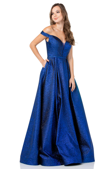 Diggz Prom BC GP29120 - Off the Shoulder A-Line Sweetheart Neckline Ball Gown with Pockets - Diggz Prom