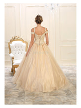 MQ LK101 - Off The Shoulder Tulle Ball Gown with Corset Back