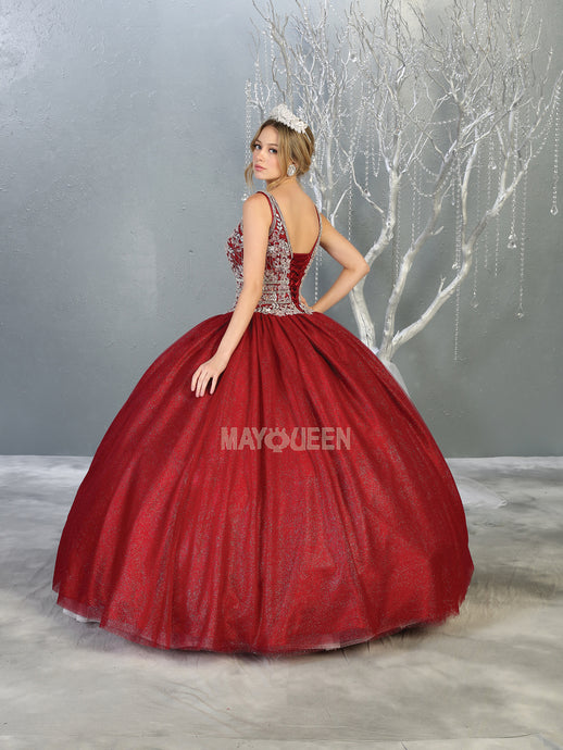 MQ LK143 - A Line Quinceanera Dress with Embellished Bodice & Corset Back