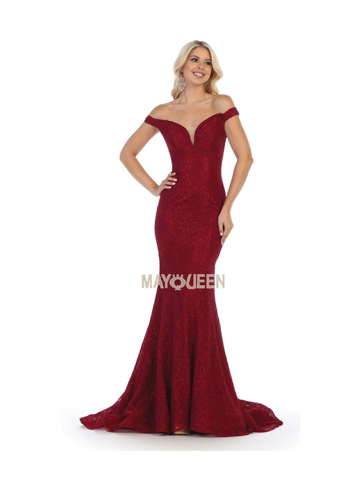 7e9a3d6962fc8 Mayqueen Size Chart E MQ 1596 - Off the Shoulder Lace Mermaid Gown with  Corset Back